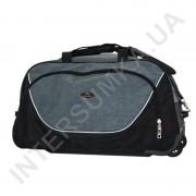 сумка спортивная на колёсах Wallaby 10428 (объем 57л) черная с серыми вставками