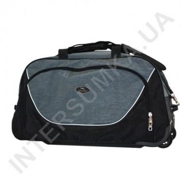 Заказать сумка спортивна на колесах Wallaby 10428 (объєм 57л) чорна з сірими вставками