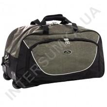 сумка спортивна на колесах Wallaby 10428 (обсяг 57л) чорна зі вставками кольору хакі