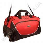Купить сумка спортивная на колёсах Wallaby 10428 (объем 57л) черно-красная