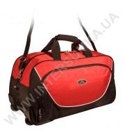 сумка спортивная на колёсах Wallaby 10428 (объем 57л) черно-красная