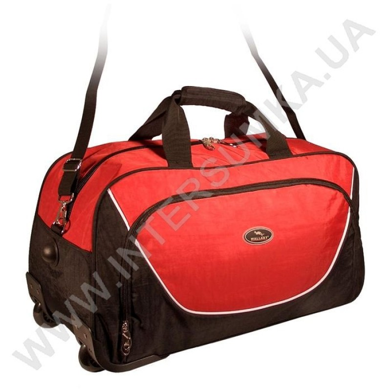 b32d10d11f2f Заказать сумка спортивная на колёсах Wallaby 10428 (объем 57л) черно-красная  в Intersumka