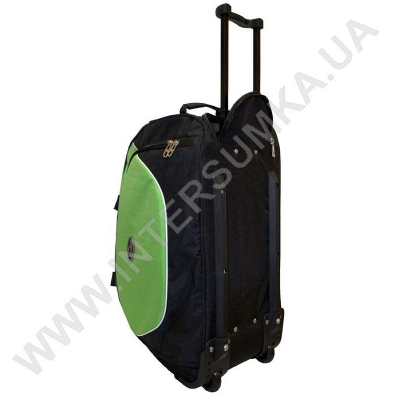 d4be8ef0ab34 ... сумка спортивная на колёсах Wallaby 10428 (объем 57л) черная с  ярко-зелеными вставками ...