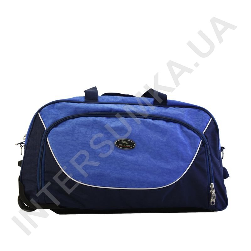 31c1a7611470 ... сумка спортивная на колёсах Wallaby 10428 (объем 57л) синяя с голубыми  вставками фото 1 ...
