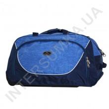 сумка спортивная на колёсах Wallaby 10428 (объем 57л) синяя с голубыми вставками