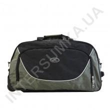 сумка спортивна на колесах Wallaby 10428 (обсяг 57л) хакі з чорними вставками