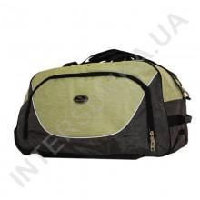 сумка спортивна на колесах Wallaby 10428 (обсяг 57л) хакі з оливковими вставками