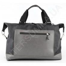 сумка-саквояж Wallaby 2554 чорний з сірою кишенею
