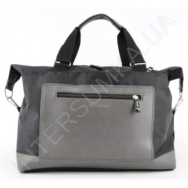 Замовити сумка-саквояж Wallaby 2554 чорний з сірою кишенею в Intersumka.ua