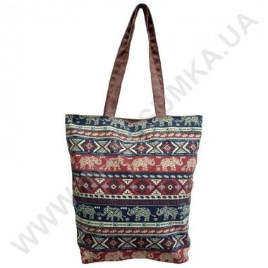 Купить сумка хозяйственная Wallaby 2702 с рисунком слоны бордовая