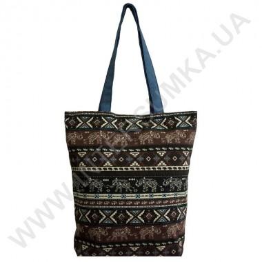 Купить сумка хозяйственная Wallaby 2702 с рисунком слоны синяя