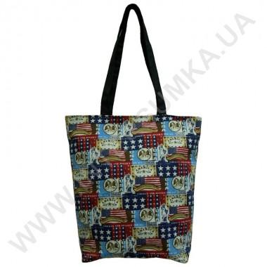 Заказать сумка хозяйственная Wallaby 2702 с рисунком США черная в Intersumka.ua