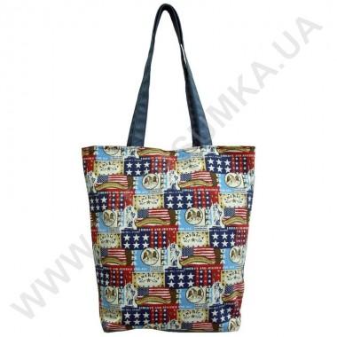 Заказать сумка хозяйственная Wallaby 2702 с рисунком США синяя