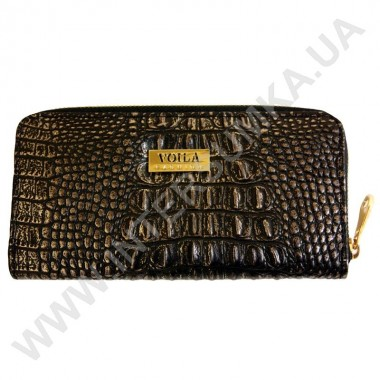 Заказать Кошелек кожаный женский Voila (Wallaby) 0038 крокодил темный с перламутром
