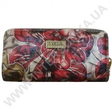 Заказать Кошелек кожаный женский Voila (Wallaby) 0038 беж-красн цветы