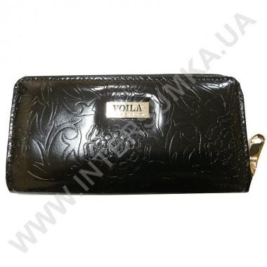 Заказать Кошелек кожаный женский Voila (Wallaby) 0038 черный цветок