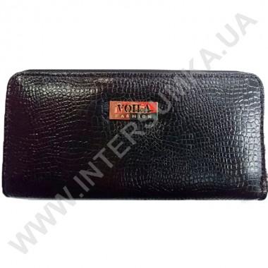 Заказать Кошелек кожаный женский Voila (Wallaby) 0038 черная змея