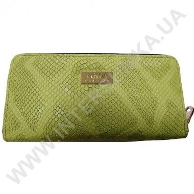 Заказать Кошелек кожаный женский Voila (Wallaby) 0038 зеленая змея