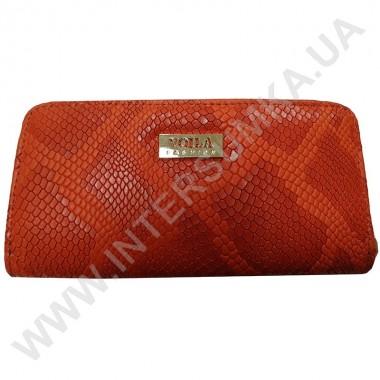 Заказать Кошелек кожаный женский Voila (Wallaby) 0038 оранжевая змея