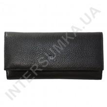Кошелек женский из натуральной кожи BK Leather 401-1 (Турция) черный флотар