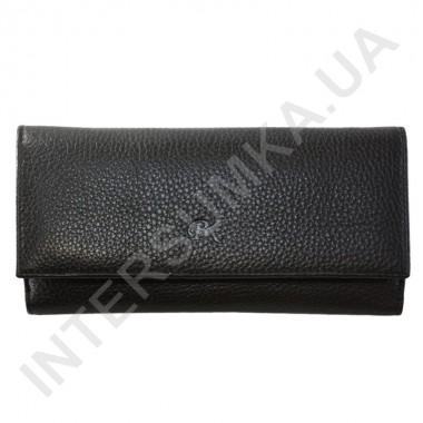 Заказать Кошелек женский из натуральной кожи BK Leather 401-1 (Турция) черный флотар