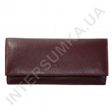 Кошелек женский из натуральной кожи BK Leather 401-5 (Турция) бордовый флотар