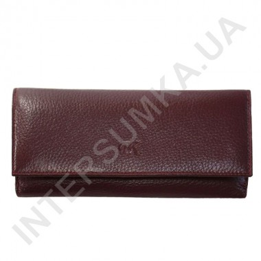 Заказать Кошелек женский из натуральной кожи BK Leather 401-5 (Турция) бордовый флотар