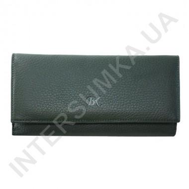Заказать Кошелек женский из натуральной кожи BK Leather 401-7 (Турция) зеленый флотар
