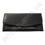 Женский кожаный кошелек с наружной монетницей BK Leather 501-01 (Турция) черный гладкий