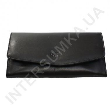 Заказать Женский кожаный кошелек с наружной монетницей BK Leather 501-01 (Турция) черный гладкий