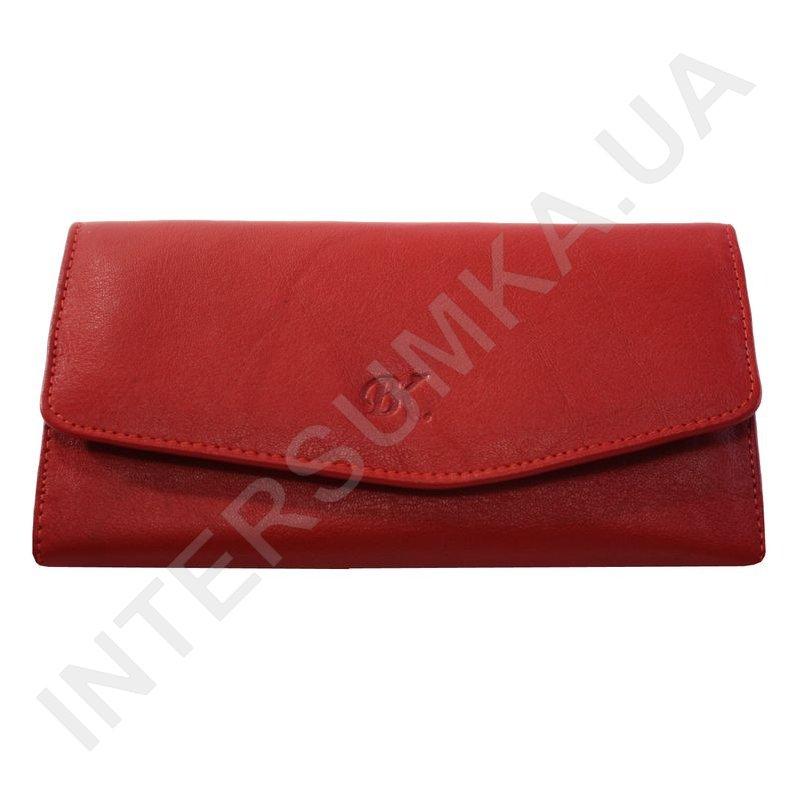 d6a400fb3716 Женский кожаный кошелек с наружной монетницей BK Leather 501-04 (Турция)  красный гладкий ...