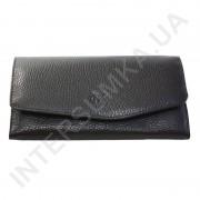 Женский кожаный кошелек с наружной монетницей BK Leather 501-1 (Турция) черный флотар