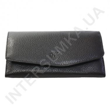 Заказать Женский кожаный кошелек с наружной монетницей BK Leather 501-1 (Турция) черный флотар