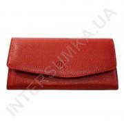 Женский кожаный кошелек с наружной монетницей BK Leather 501-4 (Турция) красный флотар