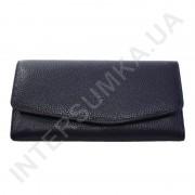 Женский кожаный кошелек с наружной монетницей BK Leather 501-5 (Турция) синий флотар