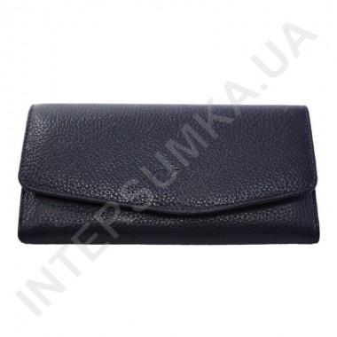 Заказать Женский кожаный кошелек с наружной монетницей BK Leather 501-5 (Турция) синий флотар