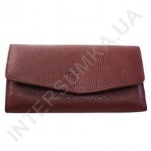 Женский кожаный кошелек с наружной монетницей BK Leather 501-6 (Турция) цвет марсала флотар