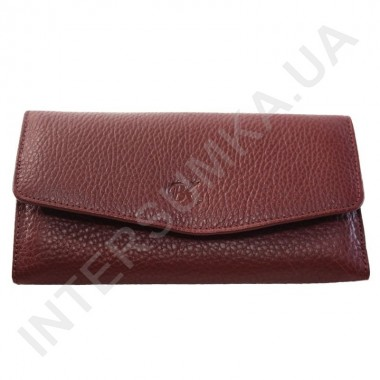 Заказать Женский кожаный кошелек с наружной монетницей BK Leather 501-6 (Турция) цвет марсала флотар