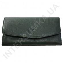 Женский кожаный кошелек с наружной монетницей BK Leather 501-7 (Турция) зеленый флотар