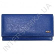 Гаманець-візитниця жіночий з натуральної шкіри Canpellini 157-304 яскраво-синій флотар в два складання