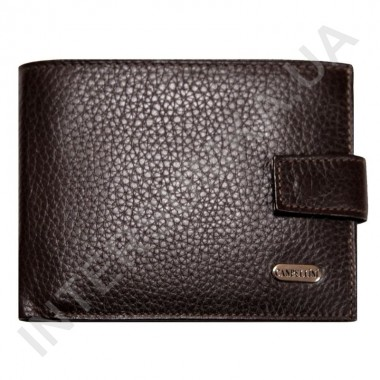 Купить Портмоне мужское из натуральной кожи Canpellini 503-14 коричневый флотар