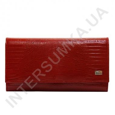 Купить Кошелек женский из натуральной кожи Desisan 057-131 красный рептилия