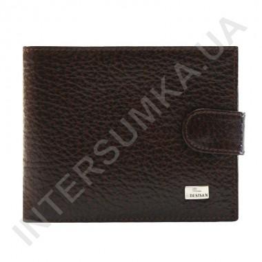 Заказать Портмоне мужское из натуральной кожи Desisan 080-019 коричневый флотар в Intersumka.ua