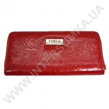 Шкіряний жіночий гаманець Voila (Wallaby) 0038 червоний візерунок