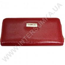 Кошелек кожаный женский Voila (Wallaby) 0038 красная змея