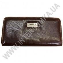 Гаманець шкіряний жіночий Voila (Wallaby) 0038 коричневий квітка