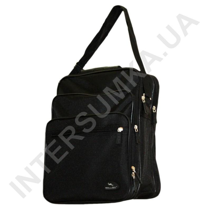 f99f81ba87eb ... сумка мужская вертикальная 3 отделения с резиновой ручкой Wallaby 2281  чёрная фото 1 ...