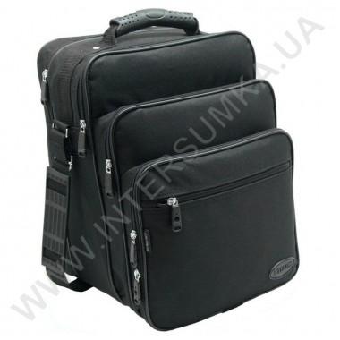 Заказать сумка мужская вертикальная 3 отделения с резиновой ручкой Wallaby 2281 чёрная в Intersumka.ua