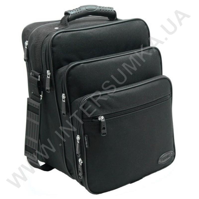 4f24d8ff50d4 сумка мужская вертикальная 3 отделения с резиновой ручкой Wallaby 2281  чёрная ...