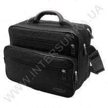 сумка мужская на два відділення з пластмасовою ручкою Wallaby 2651 чорна
